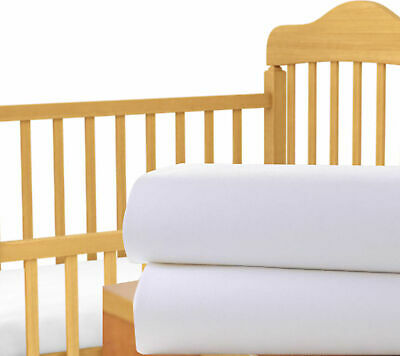Baby Cot Bed Fitted Sheet Premium Cotton 2 Pack Jersey Toddler 60cm x 120cm