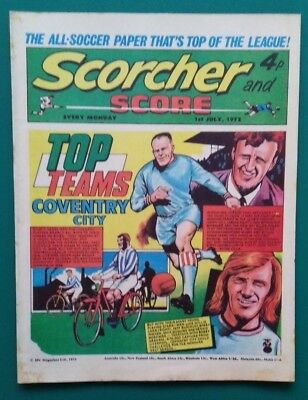 Scorcher and Score comic. 1 July 1972. Coventry City Mick Mills Phil Parkes
