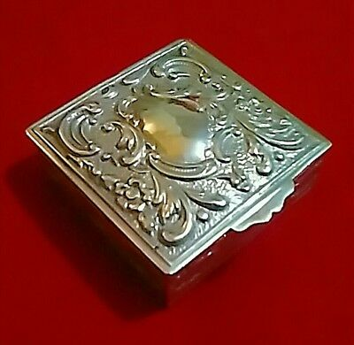 Early-Mid 20th Century Spanish .915 Silver Repoussé Snuff Box, Post 1934, 46.4g.