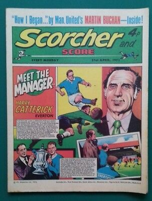 Scorcher and Score comic. 21 April 1973. Everton Southampton Manchester United