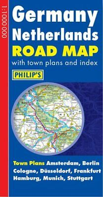 Germany Netherlands Road Map (Philip's Road Atlases & Maps) **brand New**