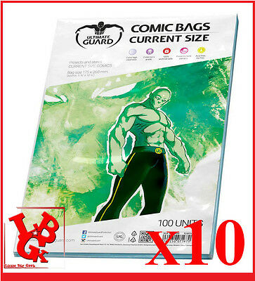 Pochettes Protection CURRENT Size comics VO x 10 Marvel Ultimate Bags # NEUF #