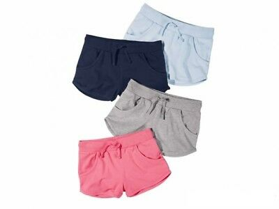Girls Short Sport Shorts Gym Summer Cotton Pink Navy Grey 6 7 8 9 10 11 12 age