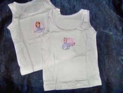 2 PACK PRINCESS SOFIA 1st GIRLS VESTS or 3 BRIEFS  - AGE 18/24M - 2/3 - 3/4 - 4/