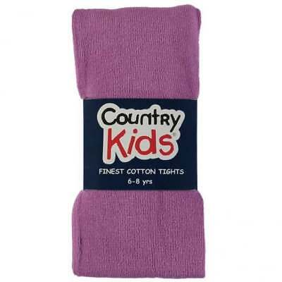 Country Kids Cotton Tights Light Plum