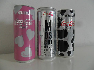 lattine Coca Cola can Light serie MOSCHINO,nuova