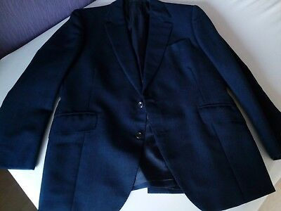 Vintage Bespoke Blazer Gr. 48, Sakko, London, Tuch von Dormeuil, full canvased!