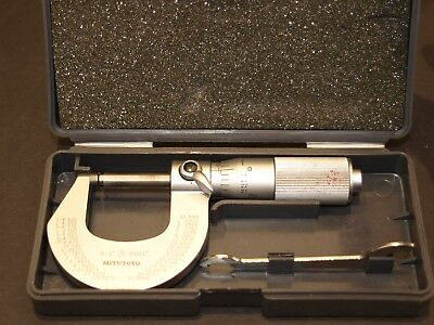 "Mitutoyo 0-1"" Friction Thimble Micrometer 0.0001"" Graduations, made in Japan"