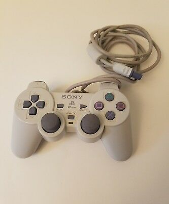 Genuine Official Sony Playstation 1 PSone Dual Shock Controller SCPH-110 Grey