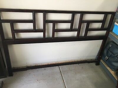 Mid Century/Hollywood Regency Chinoiserie Headboard Queen