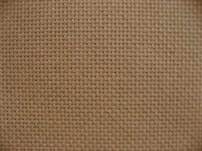 100% linen 28 count evenweave embroidery fabric in light biscuit, 50 x 60cm