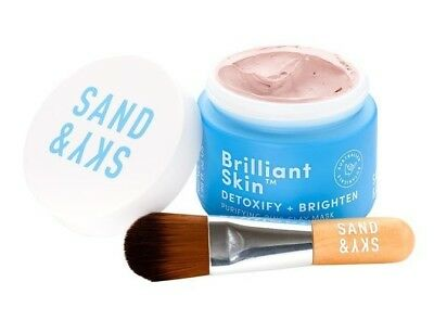 Genuine SAND AND SKY Brilliant Skin Purifying Pink Clay Mask- Oily Large Pores