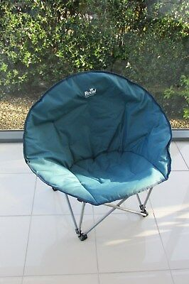 Royal Medium Moon Chair Turquoise Blue Caravanning Camping Lightweight  Folding