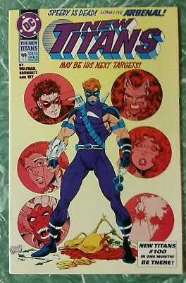 New Teen Titans #99 1st appearance of Arsenal
