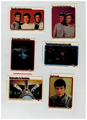 6 Topps UK  1980 Star Trek The Motion Picture Trade cards