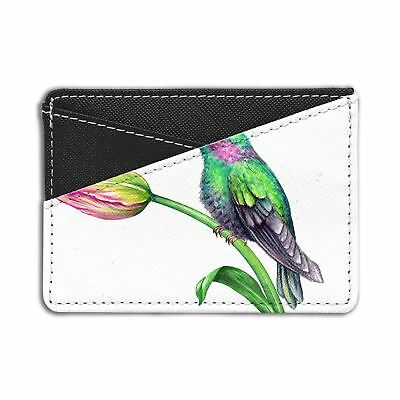 Tulips Flowers Birds Credit Card Holder Wallet - S1944