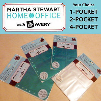 Martha Stewart Home Office with Avery Secure-Top Sheet Protectors Teal Clear 5pk