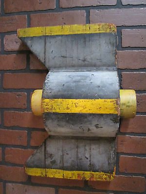 """Vintage Industrial Wooden Foundry  Mold 19"""" by 12"""" 1900's Wall Decor Tin Tag"""