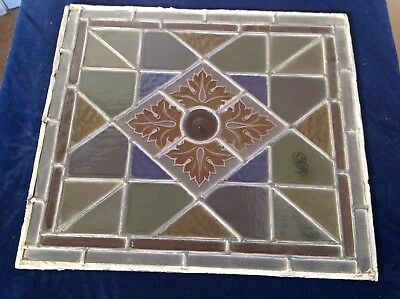 Antique Stained Glass Panel 99P Start No Reserve