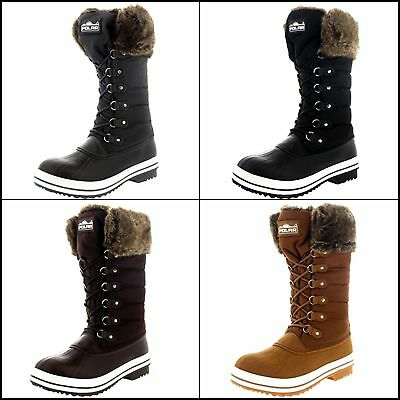 Women's Winter Boots Snow Fur Warm Insulated Waterproof Zipper Shoes Many Sizes