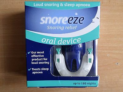 Snoreeze Snoring Relief Oral Device Fits All Mouths  Up To 180 Nights