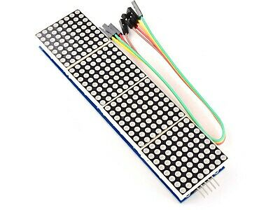 8x8 Dot-Matrix (red) MAX7219, 4 Modules, cascadable, for Arduino etc.      #1429