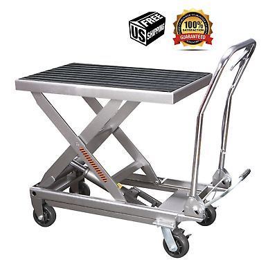 1000 lbs. Capacity Hydraulic Table Cart Movable Lift Garage Auto Shop Mechanic
