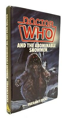 Doctor Who and the Abominable Snowmen - FIRST HB EDITION - Ex-Lib - Allen, 1985