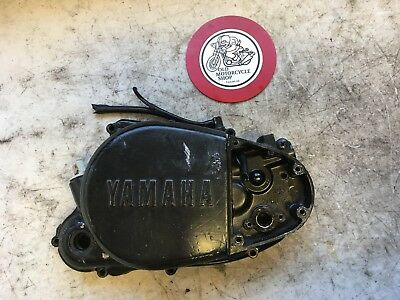 1981 Yamaha Mx175H Clutch Side Cover And Oil Dipstick Oem