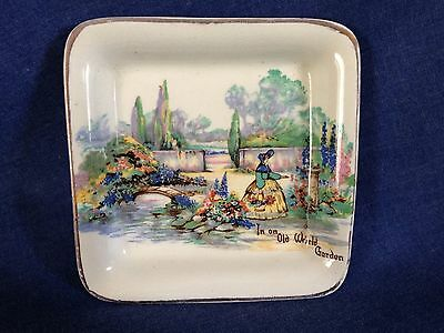 Vintage Sandland Ware. A very pretty dish. 'In an Old World Garden'.