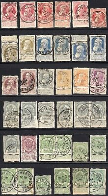 Belgium 1905-8 Thick Beard Set incl. colour varieties - Used