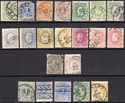 Belgium 1869-80 Perf 14 & 15 issues with some shades SG46-62 range - Used