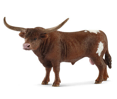 Schleich 13866 Texas Longhorn Bull Farm Animal Model Toy Figurine 2018 - NIP