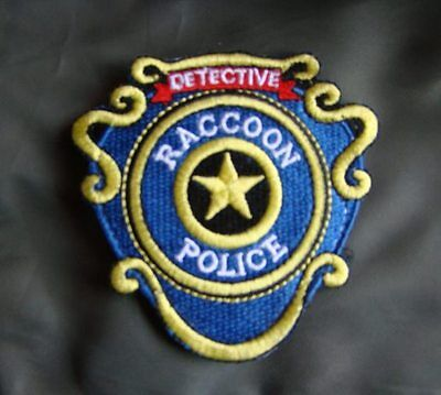 Resident Evil Raccoon Detective Embroidery Patch -2074