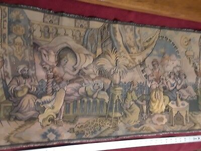 Antique wall hanging tapestry french / greek?
