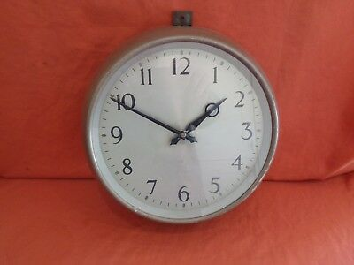 Rare Government 1961 F.W. Elliot Brothers Office School  Clock Crows Foot /|