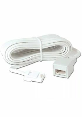 10m / 32ft  BT landline cable extension for phone, fax, modem,   brand new