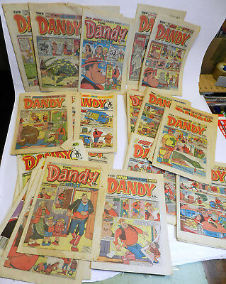 collection of Desperate Dan Dandy comics from the 1980's