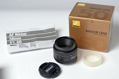 Nikon Nikkor 50mm f1.8 AF-D Lens - Boxed, instructions and all original Packing