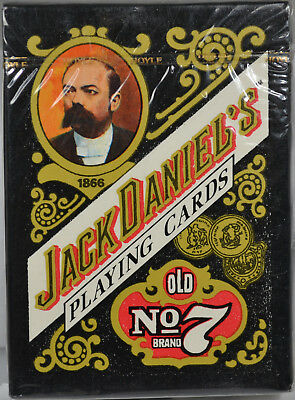 #7765 - Set of 5 - Jack Daniels Playing Cards - Sealed in Original Plastic