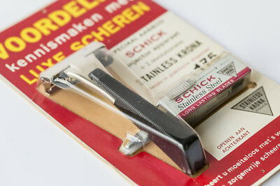 Very rare 1950s Schick Injector Razor with blades NOS