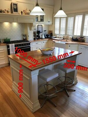 *French Provincial Country Farmhouse Kitchen with Island Bench