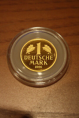 "1 DM Deutsche Mark Goldmark 2001 ""J"" in Originalkapsel"