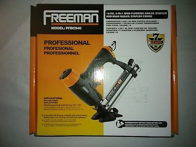 FREEMAN 4-IN-1  18Ga Pneumatic Bamboo Floor Nailer Gun Air Power Tool