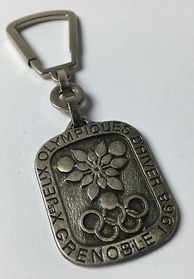 Porte Clés Key Ring JO D'HIVER GRENOBLE 1968 Recto Verso Old Keychain