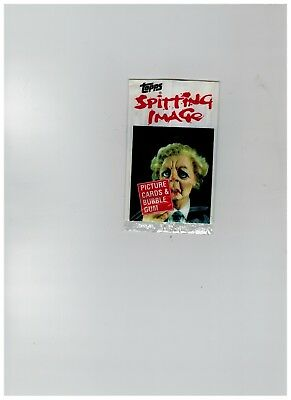 Topps UK Spitting Image empty wrapper 1990  Maggie Thatcher
