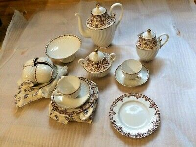 "Lomonosov Porcelain Tea/Coffee Set 24K Gold on White ""SPRING"" 22/6 NIB"