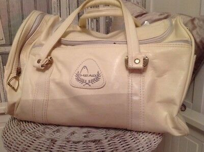 Head Holdall. Fitness. Ladies White. Running,Gym. With Shoulder Strap. Vintage,