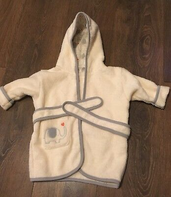 Beautiful BRAND NEW Natures Purest My First Friend Elephant Cream Dressing Gown