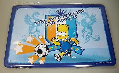 The Simpsons Take Your Red Card And Shove It Blechschild KULT 2011 NEU / OVP